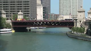 Boats On Chicago River Timelapse