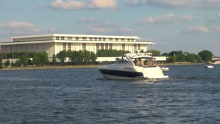 Boats on the Potomac in Washington DC Near Kennedy Center