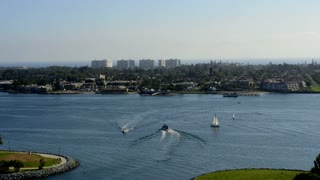 Boats Pass San Diego Shore