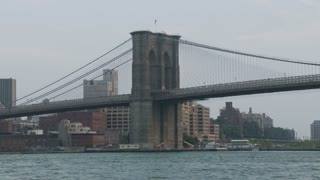 Boats Passing NYC Bridge Timelapse