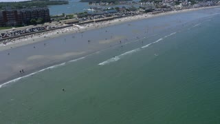 Boston Beach Aerial View Dutch Angle
