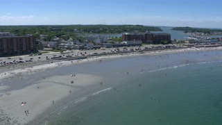 Boston Beach And Coastline Aerial View