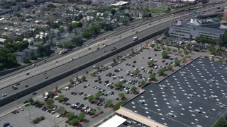 Boston Traffic Aerial Zoom In