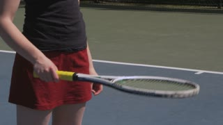 Bouncing Tennis Ball On Racket