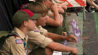 Boy Scouts Watch Parade