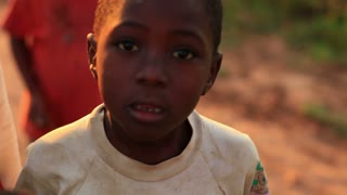 Boys Look at Camera in Africa 2