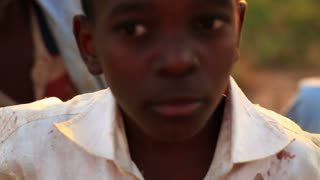 Boys Look at Camera in Africa 3