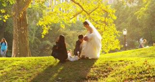 Bride and Groom Leaving Wedding Photoshoot