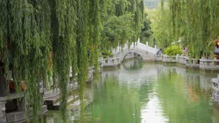 Bridge Over Canal In China