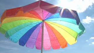 Bright Beach Umbrella and Sun 2