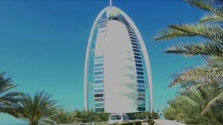 Bright Sunny Burj Al Arab Hotel