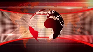 Broadcast World News Map Data Graphic 04