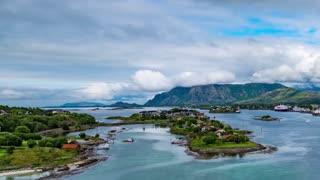 Bronnoysund, Beautiful Nature Norway timelapse Bronnoysun