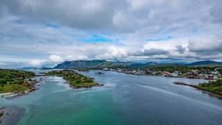 Bronnoysund Norway timelapse