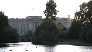Buckingham Palace Through Trees in St. James Park