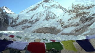 Buddhist Prayer Flags with Mountain 2