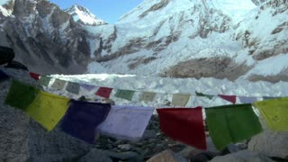 Buddhist Prayer Flags with Mountain