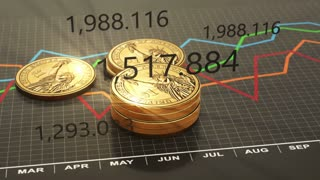 Budget business chart, investment, statistics and report. 4K animation seamless loop.
