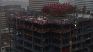 Building Under Construction During Hurricane Sandy