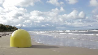 Buoy mooring. Baltic sea. Sunny day.