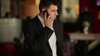 Businessman calling somebody