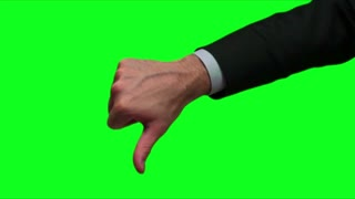 businessman thumbs up green screen 3