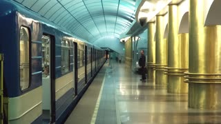 Businessman Walks Into A Underground Carriage