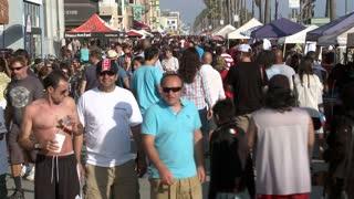 Bustling California Pier Timelapse