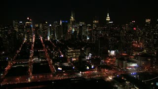 Bustling New York City Nighttime Flyby 1