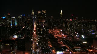 Bustling New York City Nighttime Flyby 2