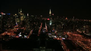 Bustling New York City Nighttime Flyby 3