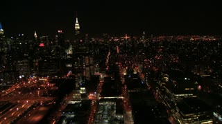 Bustling New York City Nighttime Flyby 4