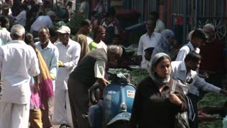 Busy and Bustling Street in India