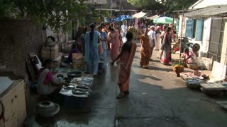 Busy Fish Market in India Timelapse