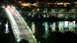 Busy Georgetown Bridge Night Time Lapse