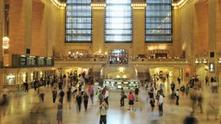 Busy Grand Central Station Timelapse