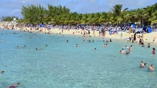 Busy Grand Turk Island Beach