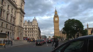 Busy Intersection By Big Ben