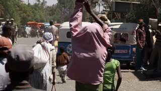 Busy Market In Addis Ababa Ethiopia