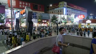 Busy Night Street in Beijing