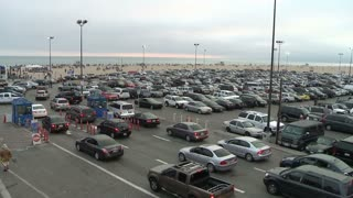Busy Parking Lot Timelapse