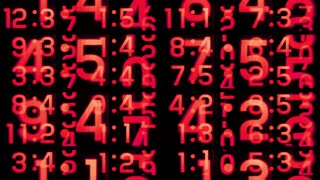 Busy Red Digital Clocks