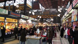 Busy Romanian Marketplace