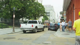Busy Small City Intersection, New Orleans, Louisiana