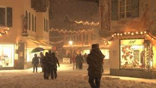 Busy Snowy Street 5