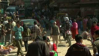 Busy Street in Nepal Village 3