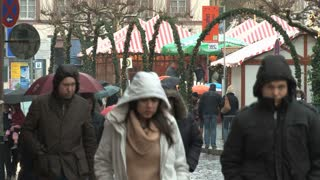 Busy Street On Rainy Day 4