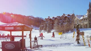 Busy Telluride Ski Slopes