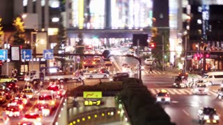Busy Tokyo Traffic Time Lapse