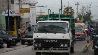 Busy Traffic In Port-au-prince Haiti